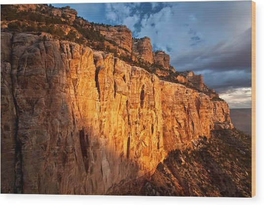 Grand Canyon Sunrise Wood Print by Kiril Kirkov