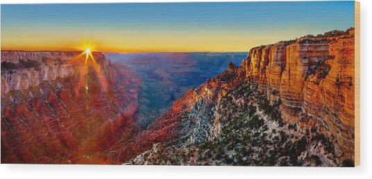 Grand Canyon Sunset Wood Print by Az Jackson