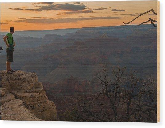 Grand Canyon Sunset Wim Wood Print