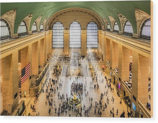 Grand Central Terminal Birds Eye View I Wood Print