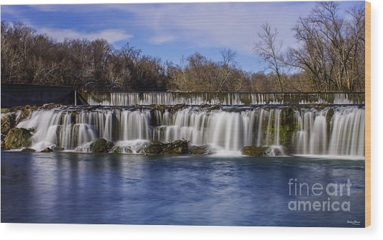 Grand Falls In Joplin Missouri Wood Print