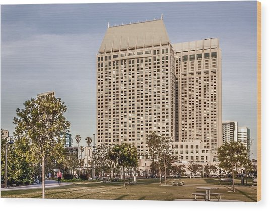 Grand Hyatt San Diego Wood Print by Photographic Art by Russel Ray Photos