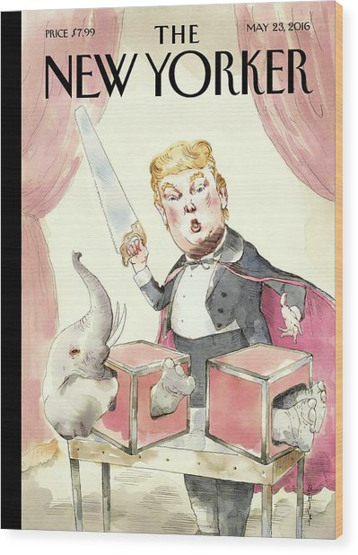 Grand Illusion Wood Print by Barry Blitt