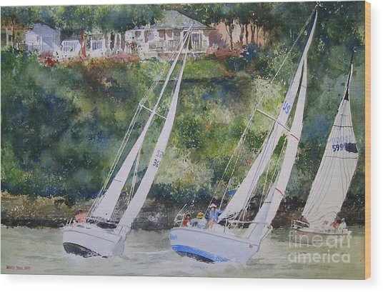 Grand Lake Regatta Wood Print