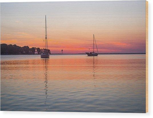 Grand Marais Sunrise Wood Print