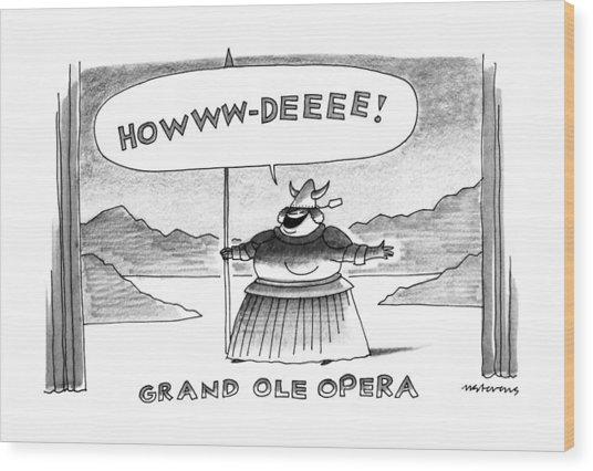 Grand Ole Opera Wood Print