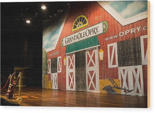 Ryman Grand Ole Opry Wood Print