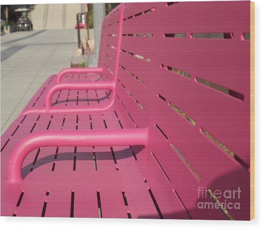 Grand Park Pink Wood Print