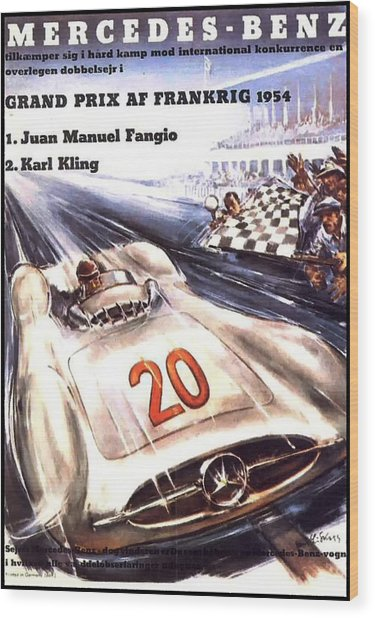 Grand Prix F1 Reims France 1954  Wood Print