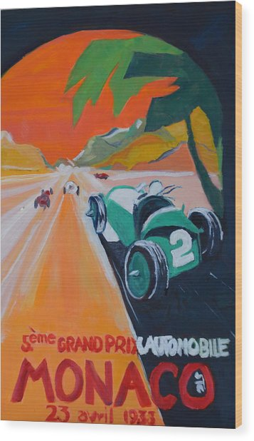 Grand Prix Wood Print