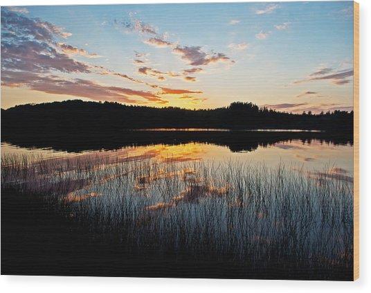 Grand Sable Lake Sunset Wood Print