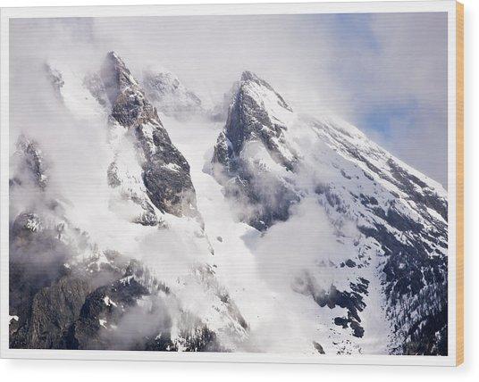 Grand Teton Glacier Wood Print