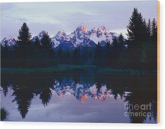 Grand Teton Reflex Wood Print
