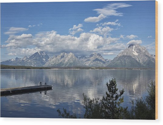 Grand Tetons In The Morning Light Wood Print