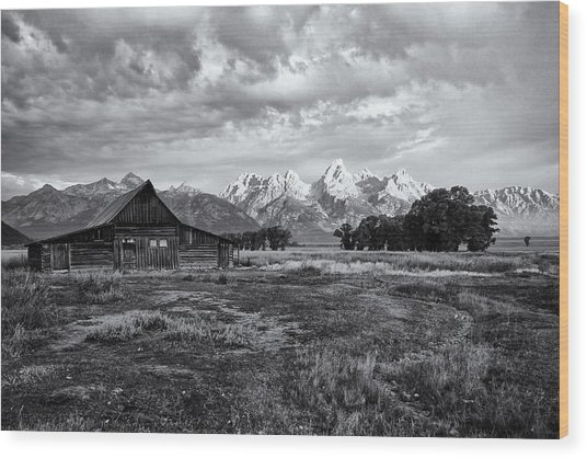 Grand Tetons National Park Wood Print