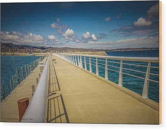 Grand Traverse Bay Wood Print