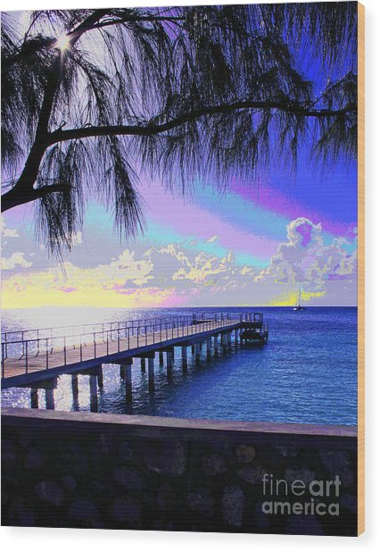 Grand Turk Sunset Wood Print