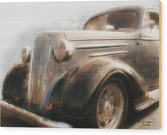 Granddads Classic Car Wood Print