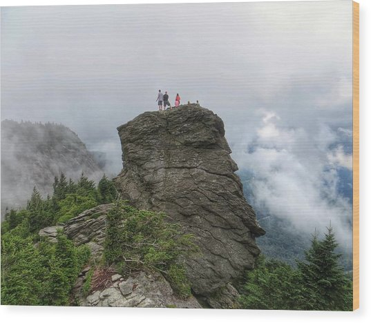 Grandfather Mountain Hikers Wood Print