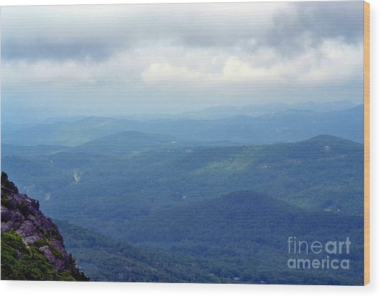 Grandfather Mountain Linville Nc Wood Print