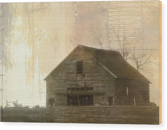 Grandfather's Barn Wood Print