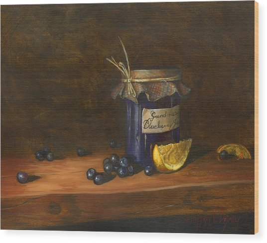 Grandma's Blueberry Jam Wood Print