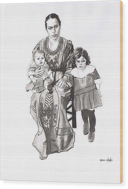 Grandma's Family Wood Print