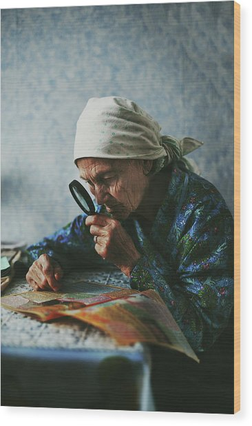 Grandmother Wood Print