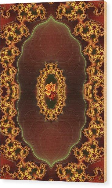 Grandmother's Rose Brooch Wood Print