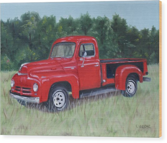 Grandpa's Truck Wood Print