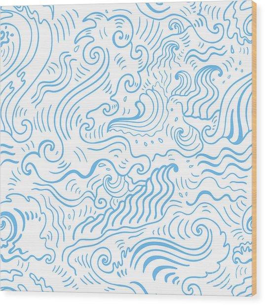 Grange Sea Background. Seamless Wood Print