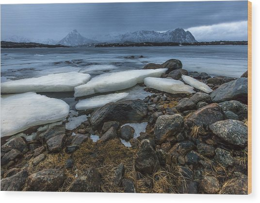 Granite And Ice Wood Print