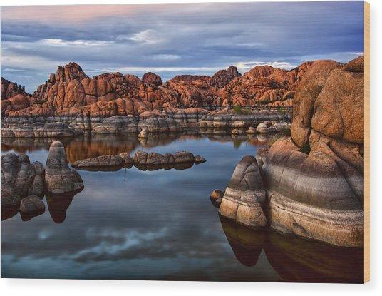 Granite Dells At Watson Lake Arizona 2 Wood Print