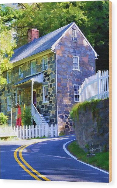 Granite Hill Wood Print