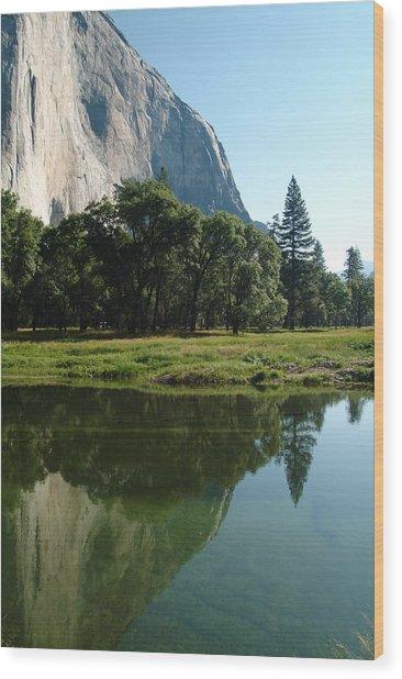 Granite Reflection Wood Print by Gary Prather