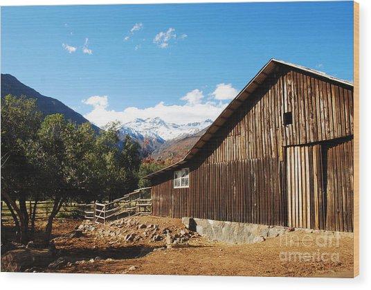 Granja Chilena Wood Print by Susan Hernandez