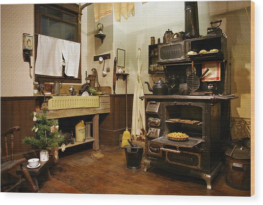 Granny's Kitchen Wood Print