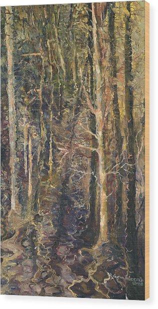 Granpepere's Woods Wood Print