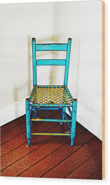 Granular Blue Wood Print