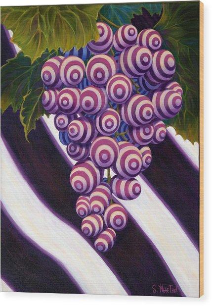 Grape De Menthe Wood Print