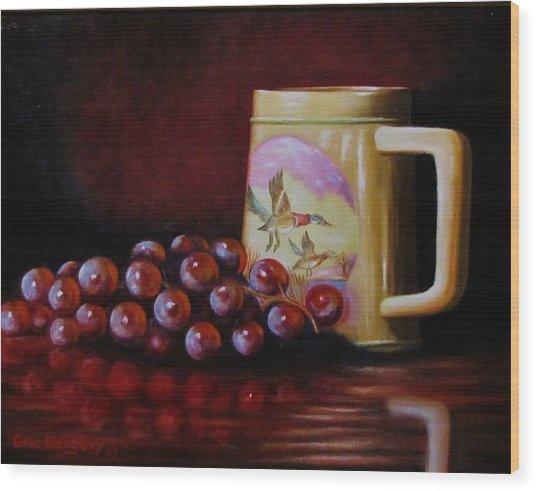 Grape Expectations Wood Print