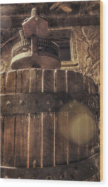 Grape Press At Wiederkehr Wood Print