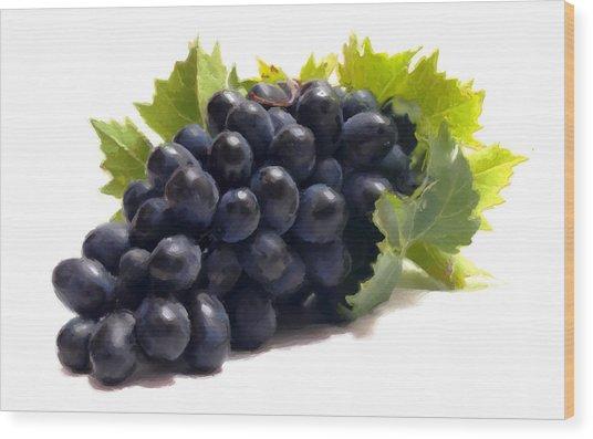 Grapes Wood Print