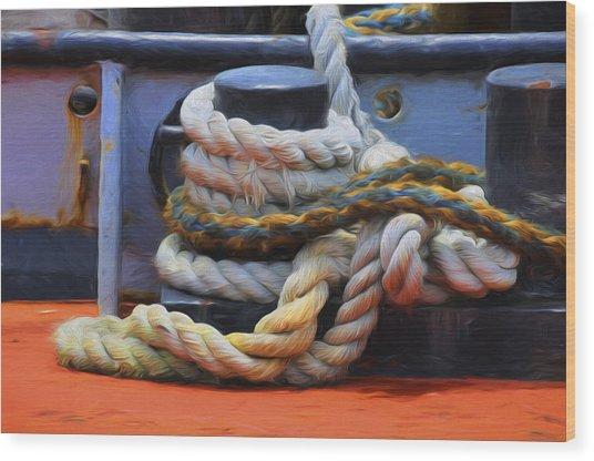 Grasping At Ropes Wood Print