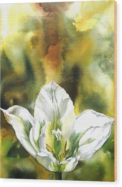 Grasshopper Tulip Wood Print