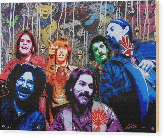 Grateful Dead  Wood Print