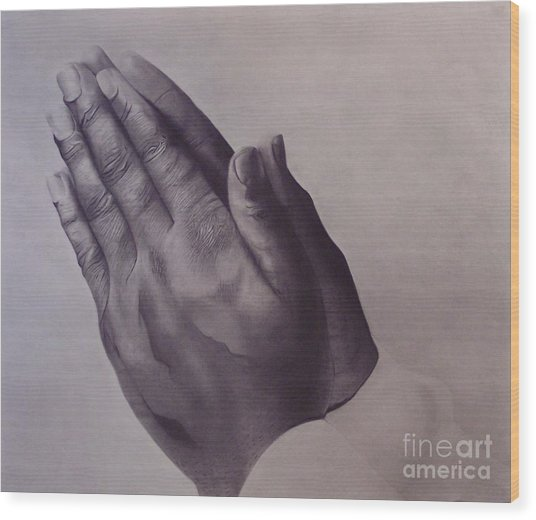 Grateful One Wood Print