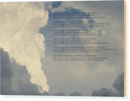 Grateful Skies Wood Print