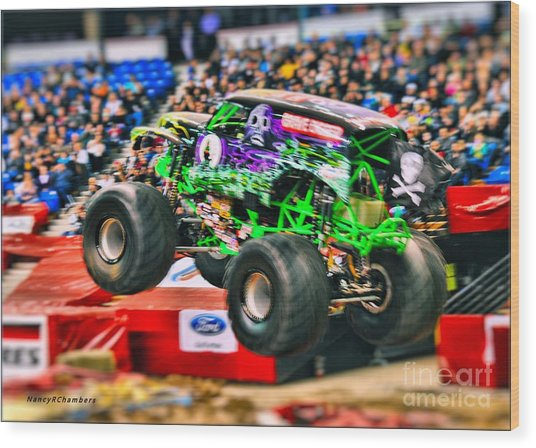 Grave Digger Wood Print by Nancy Chambers