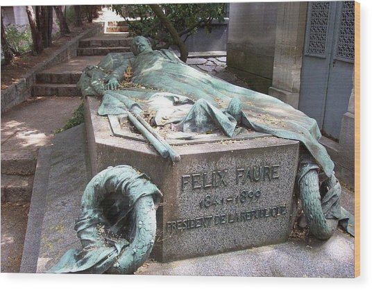 Grave Of Felix Faure  Wood Print